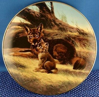 Will Nelson The Red Wolf Collector Plate