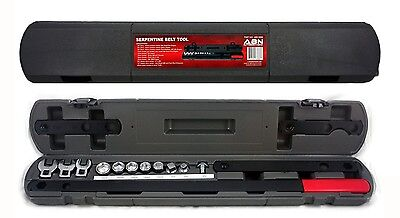 ABN Serpentine Belt Removal Tool Kit Socket Mechanic Wrench New Free Shipping