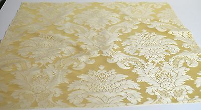 High End Decorator Italian Butter Yellow Silk Damask – Hollis & Knight Rr413