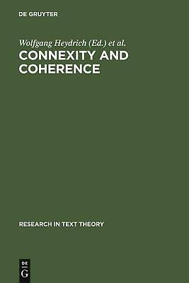 NEW Connexity and Coherence by Hardcover Book (English) Free Shipping