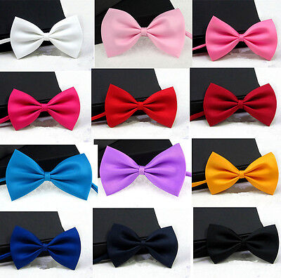 Women Kids Men Baby Classic Tuxedo Party Wedding Prom Adjustable Bowtie Bow Tie