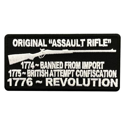 Original Assault Rifle 2nd Amendment Gun NRA MC BIKER PATCH