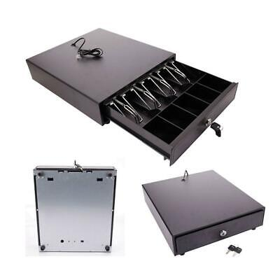 Cash Drawer Box Works Compatible Epson 5Bill & 5Coin Tray /Star POS Printers w