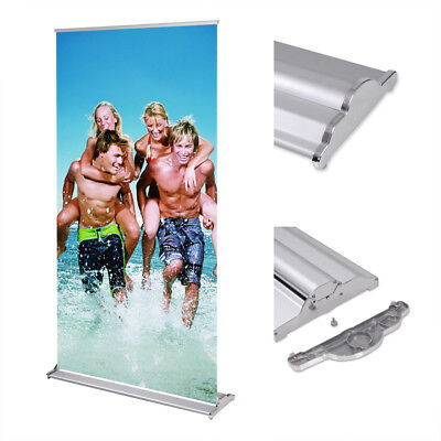 "2 pcs 33""x79"" Retractable Roll Up Banner Stand Aluminum Frame Trade Show Display"