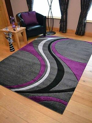 New Silver Grey Purple Black Modern Soft Thick Rugs Small Extra Large Mats Cheap