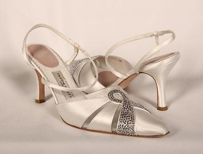 AUTHENTIC Filippa Scott Amy White Satin Bridal Shoes RETURN POLICY