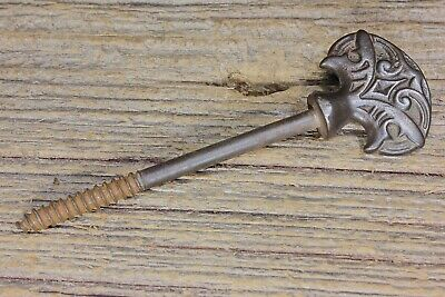 Picture screw nail old decorated cast iron vintage casket curtain tieback