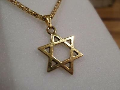 Wonderful Gold Plated Jewish Star Of David Pendant On Gp Necklace. Mitzvah Gift