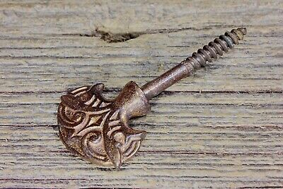Picture screw nail old copper Eastlake curtain tiebacks vintage casket