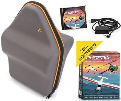Phoenix R/C Pro Flight Simulator / Sim V5.0 w/ Atomik Transmitter Bag DX9 / DX6
