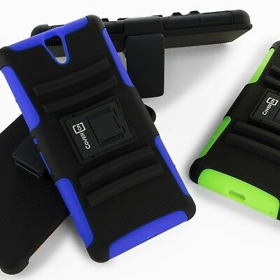 CoverON for Sony Xperia C5 Ultra Holster Case Hybrid Hard Kickstand Tough Cover