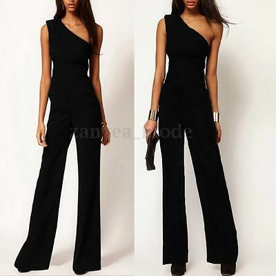 femmes combinaison soir e off shoulder pantalons sexy v col playsuit jumpsuit picclick. Black Bedroom Furniture Sets. Home Design Ideas