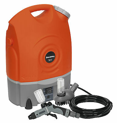 NEW Sealey Pressure Jet Washer 12V & Cordless/Rechargeable + Accessories PW1712