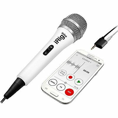 IK Multimedia iRig Voice Microphone à main pour iOS/Android - blanc NEUF
