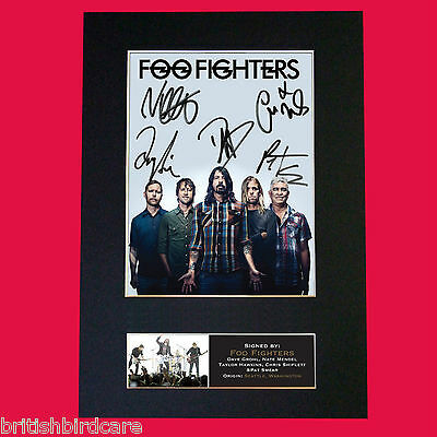 FOO FIGHTERS No2 RARE Signed Autograph Mounted Photo Repro A4 Print 597