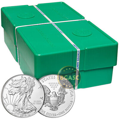 Mint Sealed Monster Box of 2019 1 oz Silver Eagles - 500 BU Coins