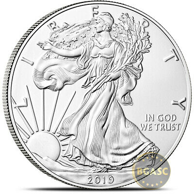 2019 1 oz American Silver Eagle Coin BU Bullion .999 Fine