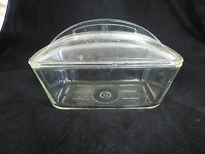 Vintage Westinghouse Covered Glass Refrigerator Dish