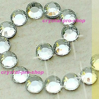 14400 CLEAR Crystal 6ss 2mm Hotfix Iron on Flatback Rhinestones Craft Bling ss6