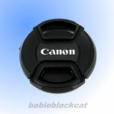 Front Lens Cap Snap-on Cover 52mm/55mm/58mm/62mm/67mm/72mm/77mm for Canon Camera