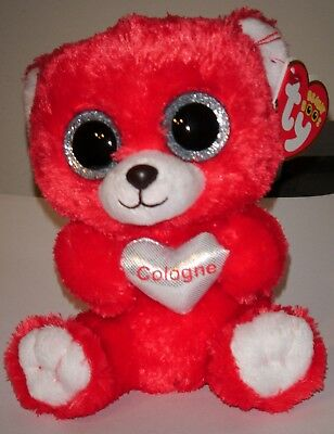 """Ty Beanie Boos ~ COLOGNE the 6"""" Bear ~ Germany Exclusive ~ NEW MINT w/ MINT TAGS"""