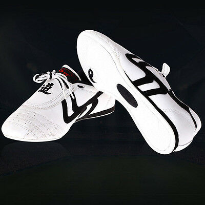 Men Women Kid Kickboxing Taekwondo Shoes Kung Fu Sneakers Trainers Tai Chi White