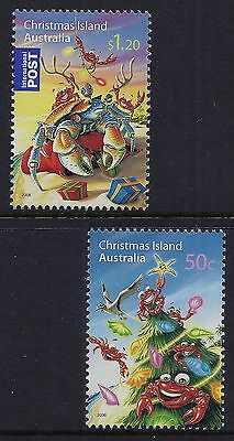 Christmas Island 2008 Christmas Set Of 2 Fine Mint Mnh/muh