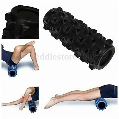Black Fitness Floating Point EVA Yoga Foam Roller for Gym Physio Massage Pilates