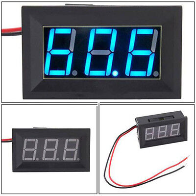 DC4.5-30V 2 Wire Blue LED Panel LED Display Car Voltage Meter Battery Voltmeter