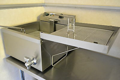 NEW 24L FUNNEL CAKE CHURROS DONUT FRYER 3kW Plug with side drainer