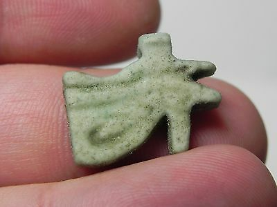 Zurqieh -Af240- Ancient Egypt , Faience Eye Of Horus Amulet. 600 - 300 B.c