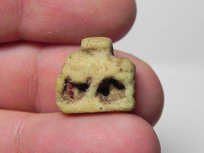 Zurqieh -Af267- Ancient Egypt , Faience Sow Amulet. 600 - 300 B.c