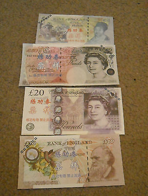 Lot of New England Pounds Banknotes Paper Money China Training Notes