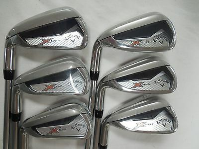 New Lh Callaway X Series N415 Iron Set 5 Pw Steel Uniflex Left