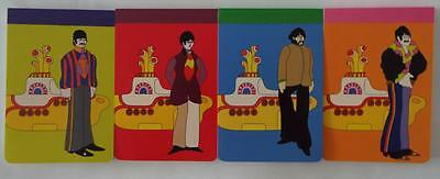 NEW The Beatles Yellow Submarine Notepad 4-Pack John Paul George & Ringo Set