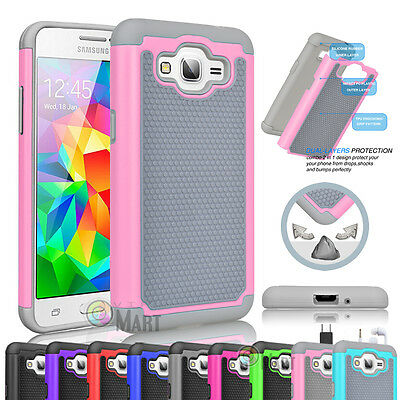 Shockproof Hybrid Rubber Hard Case Cover For Samsung Galaxy Grand Prime G530