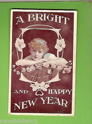 #c.    Postcard - A Bright & Happy New Year, To Nellie Leonard
