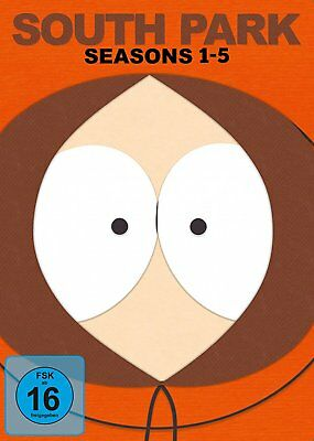 South Park - Season/Staffel 1+2+3+4+5 # 15-DVD-BOX-NEU
