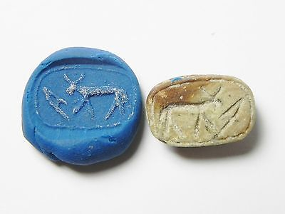 Zurqieh -Af321- Ancient Egypt , New Kingdom Stone Scarab. 1400 B.c