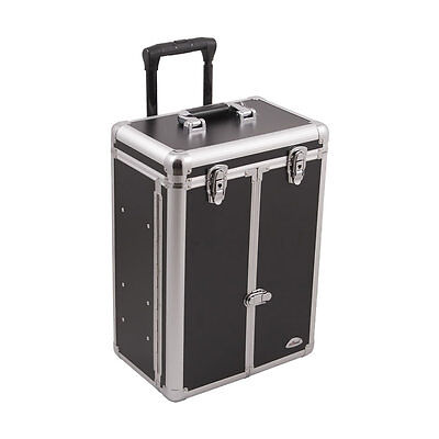 Professional Rolling Makeup Train Case Aluminum Cosmetic Organizer Sunrise
