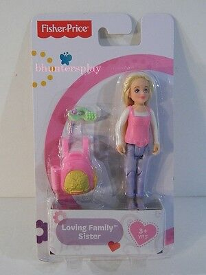 Fisher Price Loving Family Dollhouse Sister Figure NEW with Accessories