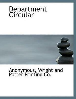 Department Circular by Anonymous (English) Hardcover Book Free Shipping!