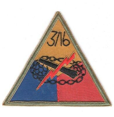 Army Patch:  3rd Squadron 16th Cavalry triangle, bullion - COPY