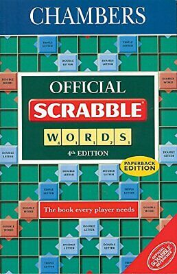 Official Scrabble Words by C Schwarz Paperback Book The Cheap Fast Free Post