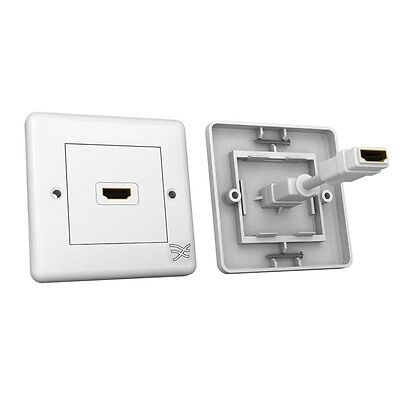 Cablesson® HDMI Wall Plate Single Connector 100 Type A connector HDMI v 2.0 4k2k