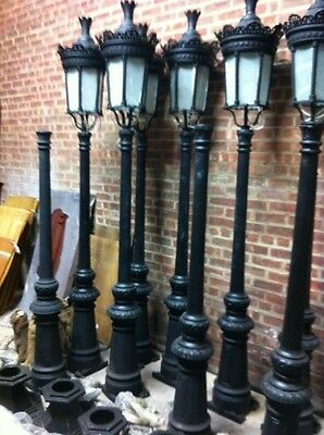 Single Light Victorian Cast Iron Outdoor Street Lamp Hsl65