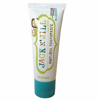 Jack N' Jill Natural Calendula Toothpaste Blueberry Fluoride Free and Sugar Free