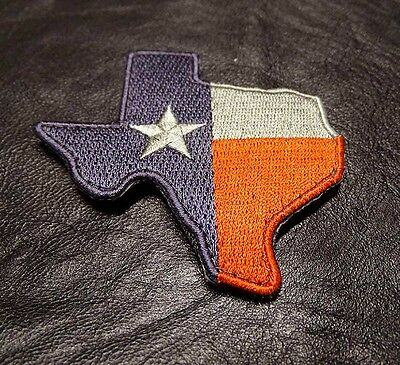 TEXAS STATE MAP FLAG  TACTICAL MORALE SWAT hook  PATCH