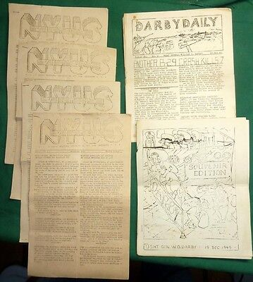 WW2 USAT Transport General Darby, Victory Ship New York University, 6 Newspapers