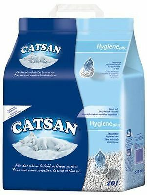Catsan 20L X 2 Cat Litter  Non-Clumping Hygiene  Odour Protection  40L